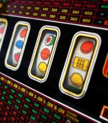 Eine Spielmaschine in einem Casino